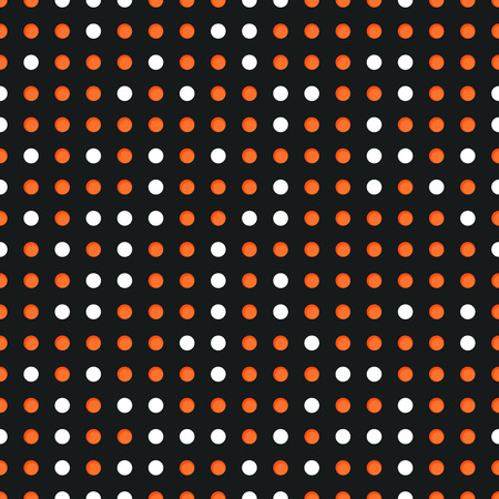 Abstract seamless background with many white and red circles Vector Illustration