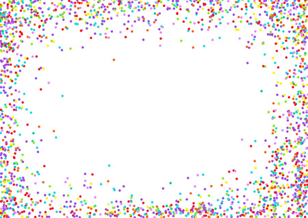 sides: Vector background with confetti tiny round pieces on the sides