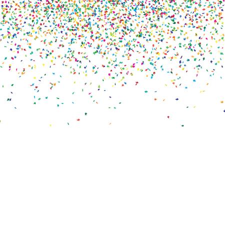 Resumen de fondo con la caída de confeti, confeti diferentes piezas curvadas de colores