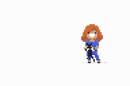 Pixel art girl.