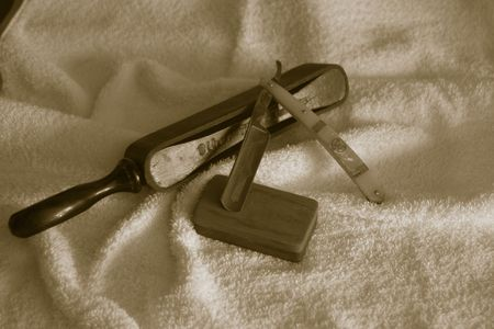 Rasoio ed accessori diritti Archivio Fotografico - 596922