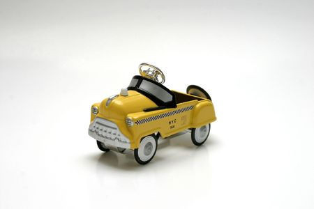 fare: Pedal Car Toy - NYC Taxi Stock Photo