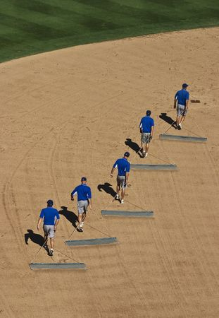 Dragging the baseball field