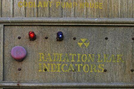 Radiation indicator panel Фото со стока