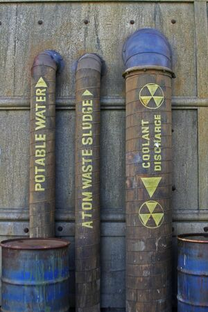 Labeled Nuclear Plumbing and Equipment Reklamní fotografie