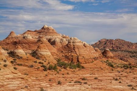 Hot desert landscape in Utah