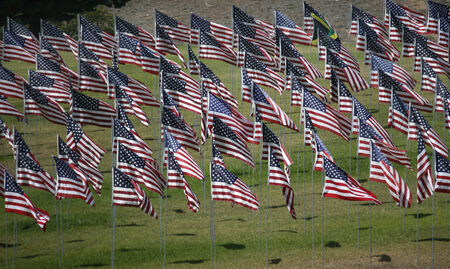 commemorating: Flags Display commemorating September 11 victims