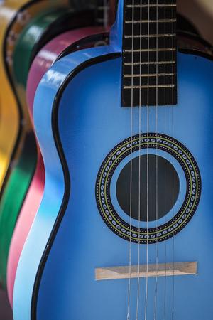 Multiple Colorful Guitars Reklamní fotografie