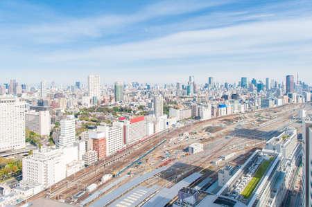 Cityscape overlooking Tokyo, Japan. 스톡 콘텐츠
