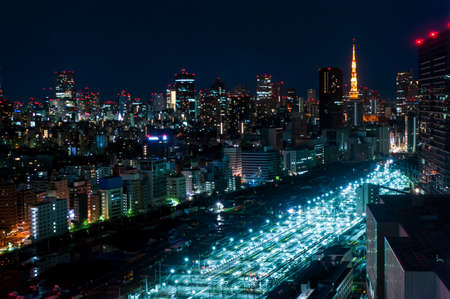 aerial photography of Tokyo night view, japan