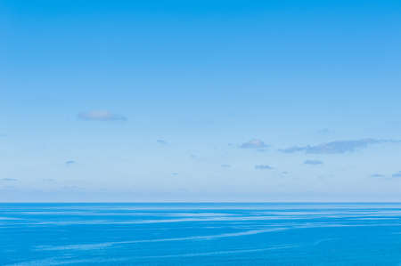 Pacific Ocean -  View of beautiful sky with clear blue sea Imagens