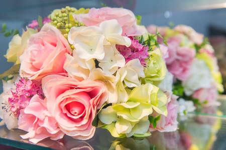 Beautiful pink wedding bouquet