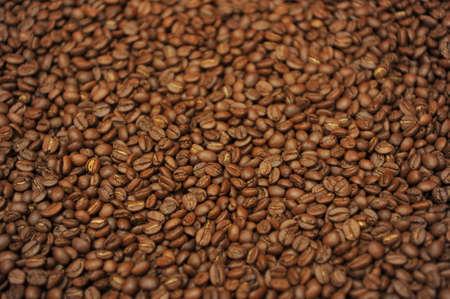Freshly baked coffee beans are dried in a red basket Zdjęcie Seryjne