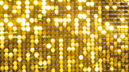 Abstract blur sequin dress colorful bokeh goldren light. Design backdrop. Disco color