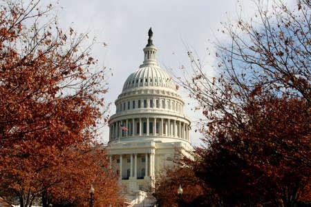 United States Capital in Fall Фото со стока