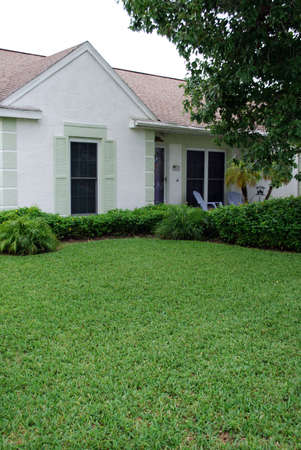 cute house well landscaped photo