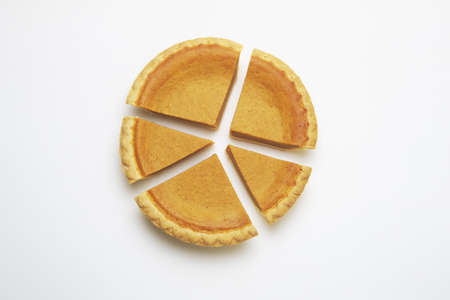 diagrama circular: Gr�fico de sectores, tarta de calabaza  Foto de archivo
