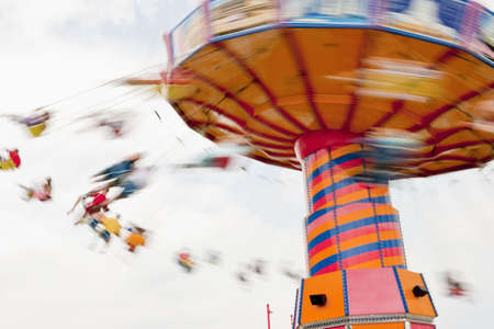 blurr: swing ride, Navy Pier on Lake Michigan, Chicago, Illinois, United States of America