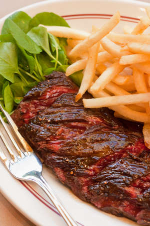 hanger steak with frites, Cafe Luck, Santa Barbara, California, United States of America