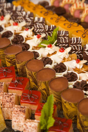 tantalizing: a choice of assorted chocolates and desserts