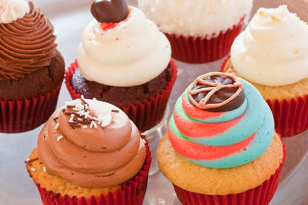various colorful cupcakes