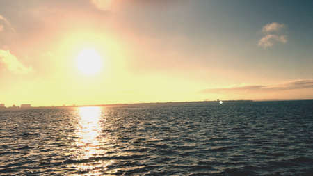 Tampa Bay at sunset Stock Photo