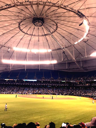 Opening day at Tropicana Field in Tampa Stock Photo