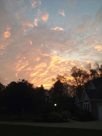 A beautiful cloudy evening