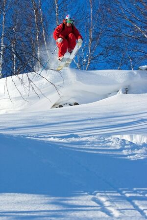 Freeride in Siberia 版權商用圖片 - 6383084