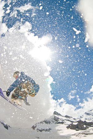 powder blue: Jump Stock Photo