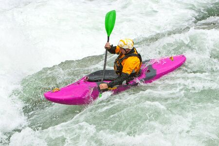 Kayak trip on the waterfalls in Norway. Stock Photo - 7629283