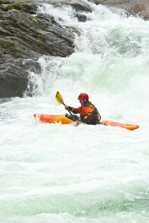 rapid: Kayak trip on the waterfalls