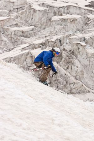 freeride: Freeride in a mountains