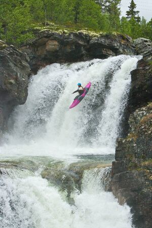 Waterfalls in Norway 版權商用圖片 - 8782126