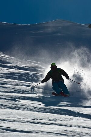 Freerider and snow powder