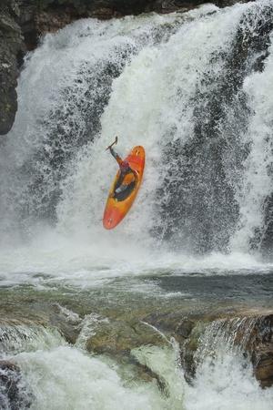 kayaker: Kayaker in the waterfall