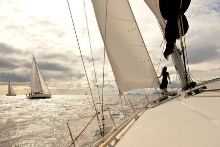 yacht race: Yacht regatta Stock Photo