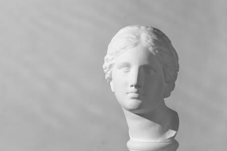 afrodita: Cabeza de yeso de Afrodita Foto de archivo