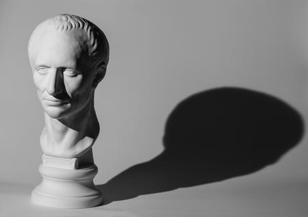 statuary: Gypsum head of Caesar