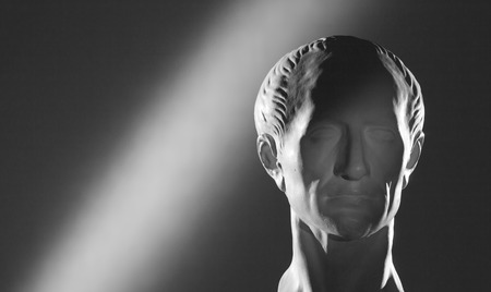 teaching aid: Gypsum head of Caesar