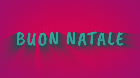 Animated bouncing letters Buon Natale