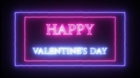 "Neon sign ""Happy Valentines Day"""