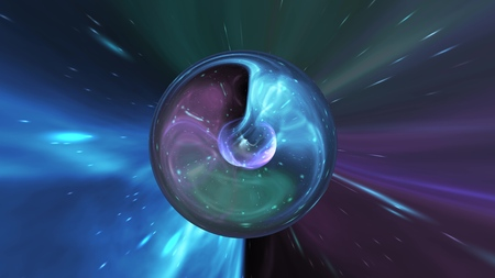 Illustration galaxy ball abstract background