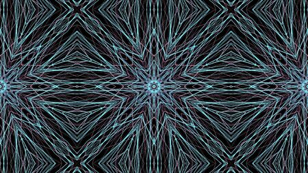 Round abstract geometric pattern. Mandala.