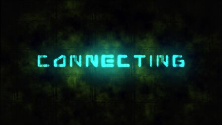 Techno CONNECTING text animation. Motion dynamic animated background in techno style, with Connecting text