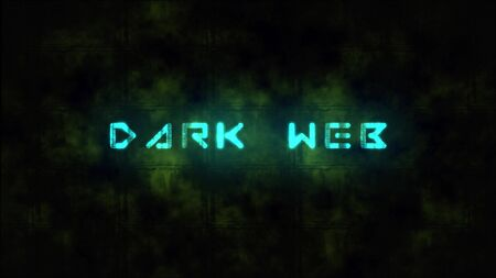Techno DARK WEB text animation. Motion dynamic animated background in techno style, with Dark Web text