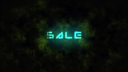 Techno SALE text animation. Motion dynamic animated background in techno style, with Sale text