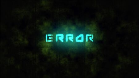 Techno ERROR text animation. Motion dynamic animated background in techno style, with Error text