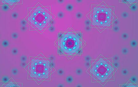 Abstract geometric square pattern. Mandala. Background illustration 版權商用圖片