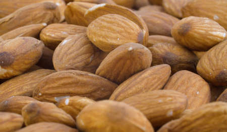 Nut almond close up. Product rich in minerals and vitamins. Macro shooting 写真素材